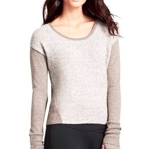 Athleta Brindle Wool Mixed Knit Sweater